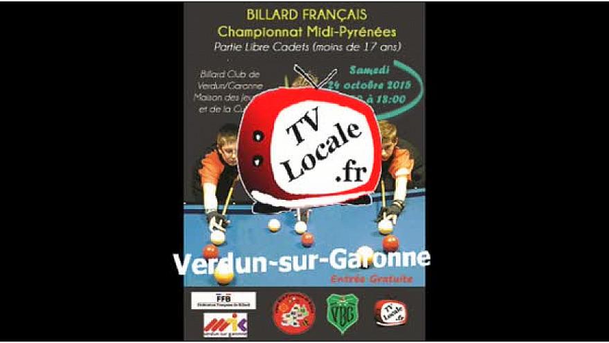 Résultats du championnat régional à la partie libre Cadets (moins de 17 ans) au Billard Club Verdun-sur-Garonne