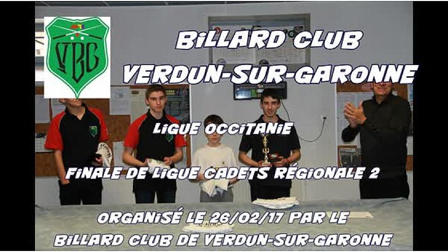 Finale 2017 Ligue @Occitanie de #Billard Français partie Libre Cadets (moins de 17 ans) @Verdun-sur-Garonne #Tv_Locale